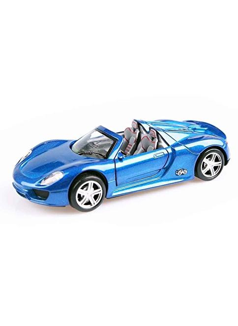 Motor Max Işıklı ve Müzikli Çek-Bırak Metal Araba Mavi